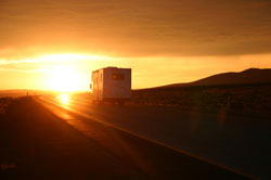 Long Term Motorhome Rental in sunset