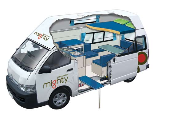 Mighty 4 Berth Campervan Rental In Australia With Drivenow